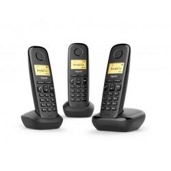 TELEFONO CORDLESS GIGASET A170 TRIO NERO (L36852-H